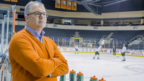 Lamar Hunt Jr. watches over the Missouri Mavericks